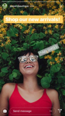 Instagram Stories Example Girl with Sunglasses