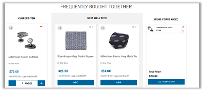 upselling product recommendations