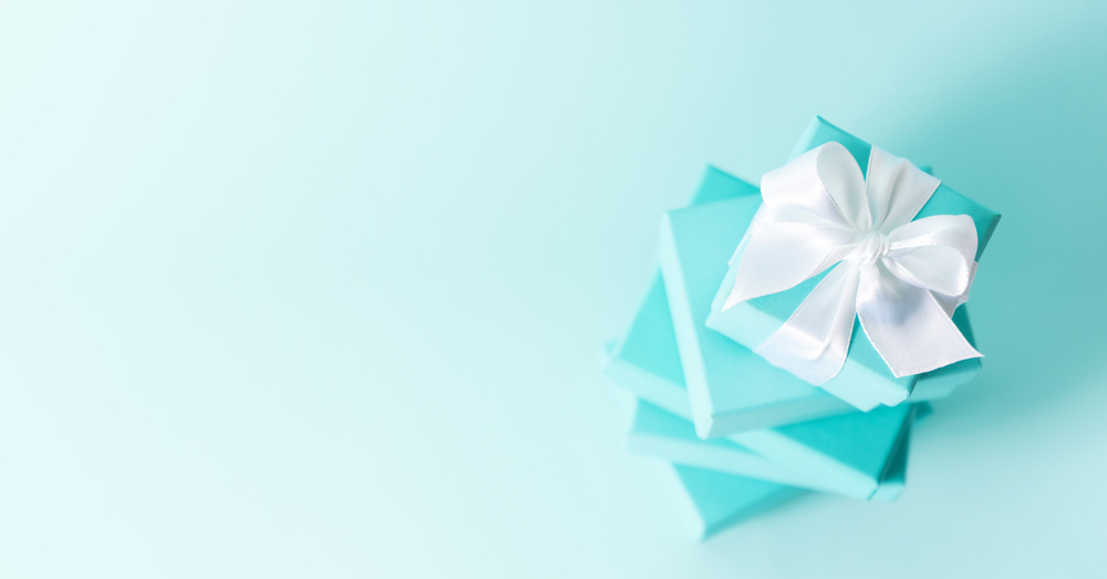 Stacked Baby Blue Gift Boxes